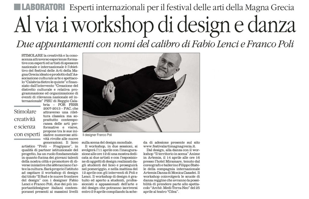 WorkShop Design - Il Quotidiano