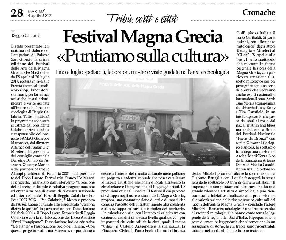 Presentazione FaMaG - Cronache della Calabria