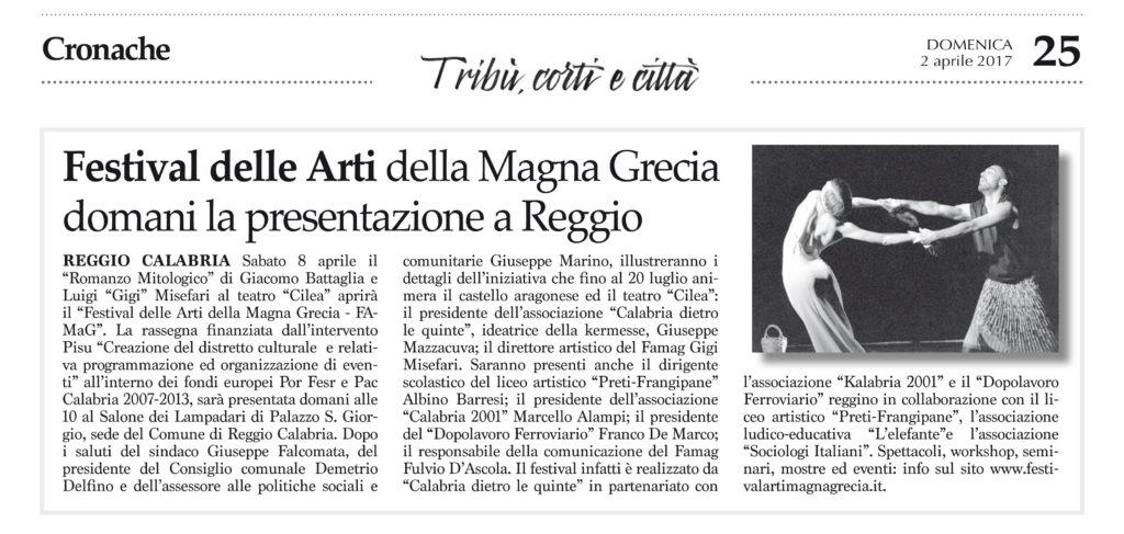 Festival delle Arti della Magna Grecia - Cronache della Calabria
